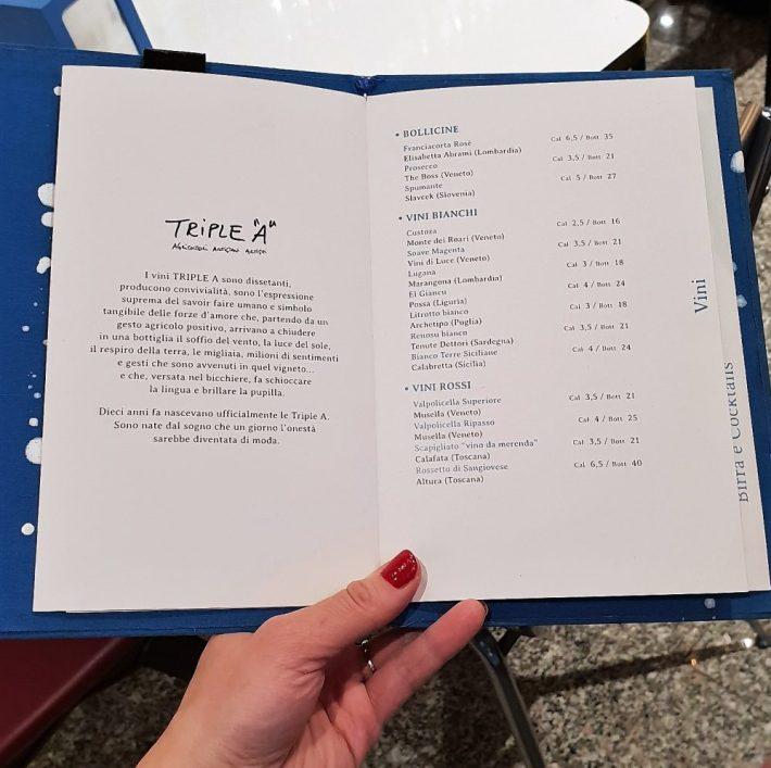 Leuk restaurant in Verona: Ziga bar wijnkaart