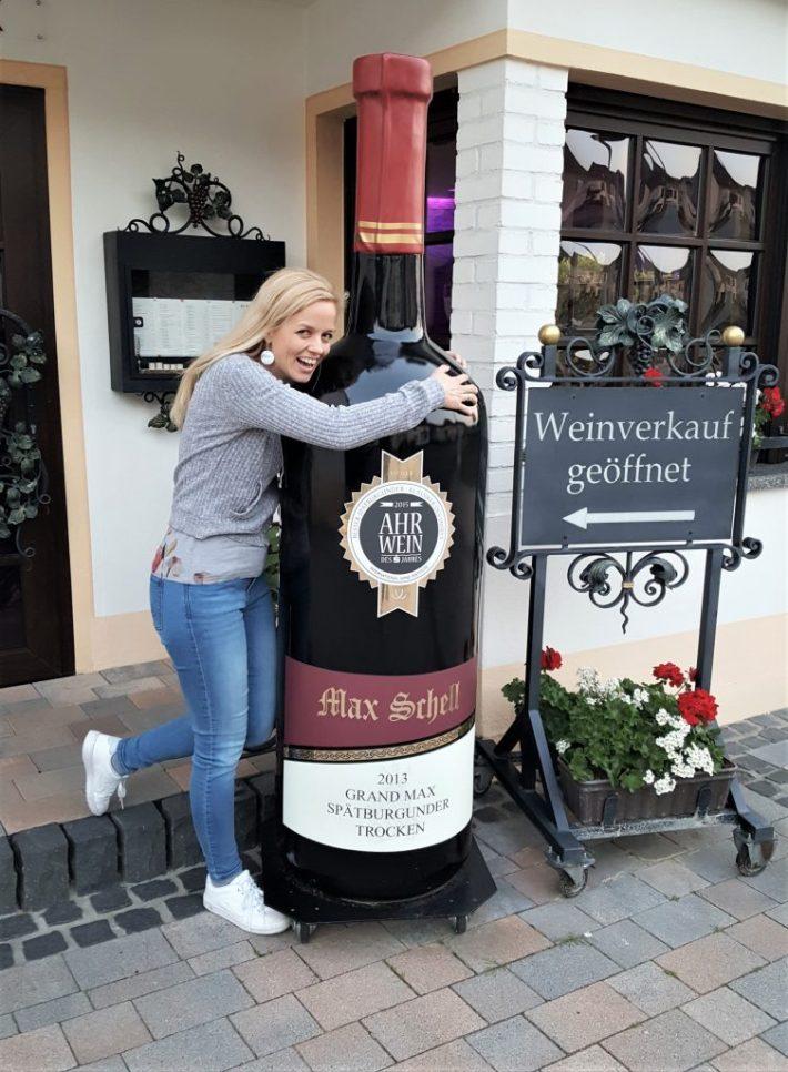 Pinot Noir wijn Spatburgunder wijnfles