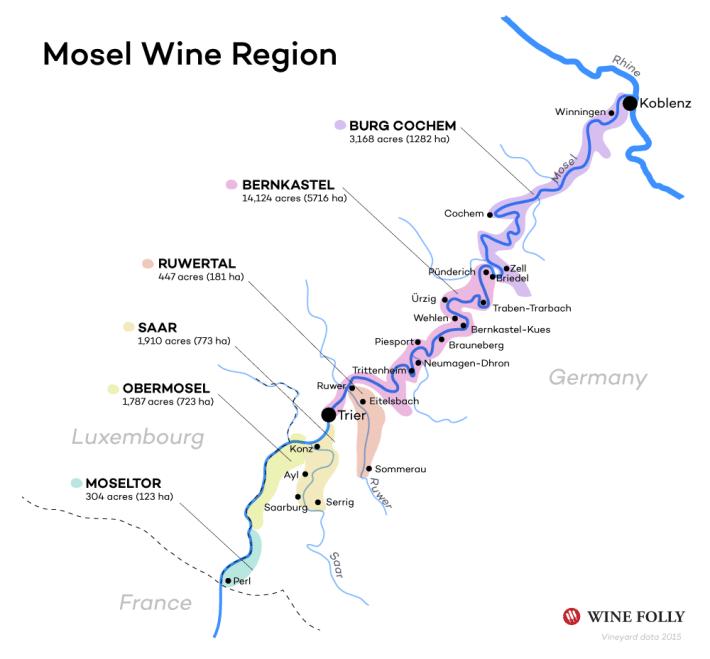 Wijnreis Moezel en Duitse wijn: Moezel kaart