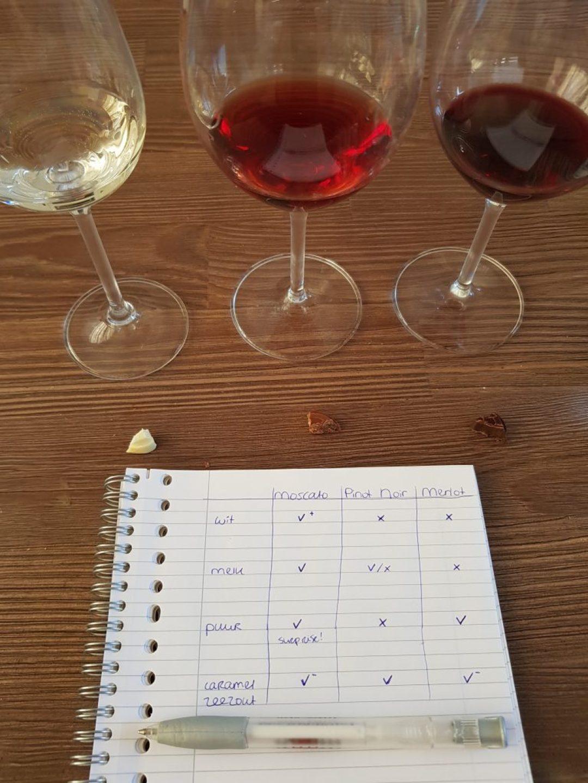 wijn en chocolade notities