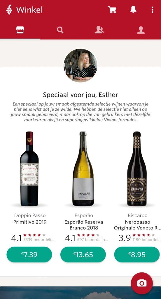 vivino shop wijn app