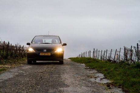 Onderweg tussen de wijngaarden in de Champagne