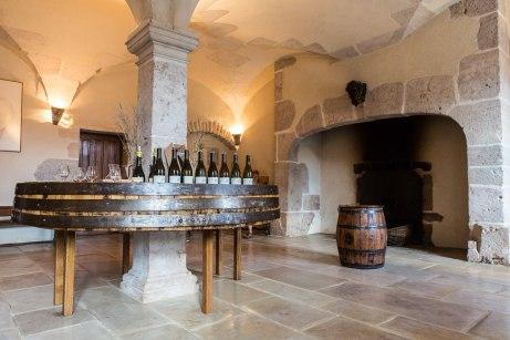 Het proeflokaal van Chateau de Chamilly in Bourgogne