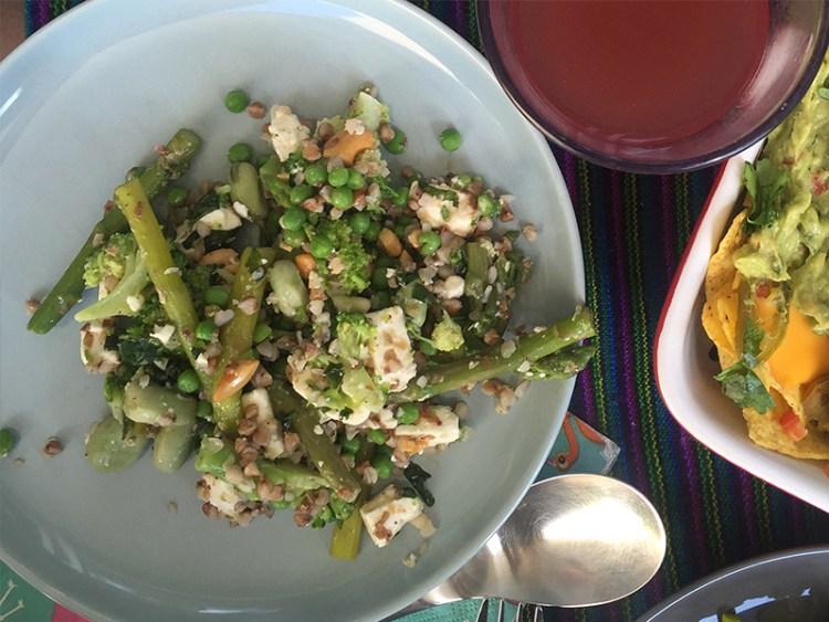 groene asperge salade met feta