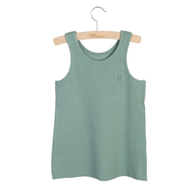 Wijs west Little Hedonist Tanktop Maddy Chinois Green  SS20 Kleding & Accessoires Shirt