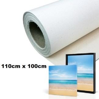 Maliarske plátno. Farba- biela. Zloženie- 100% bavlna. Gramáž- 380g/m2 Rozmer: 110cm x 100cm.