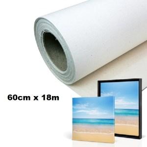 Maliarske plátno na rolke. Farba- biela. Zloženie- 100% bavlna. Gramáž- 380g/m2 Rozmer: 60cm x 18m.