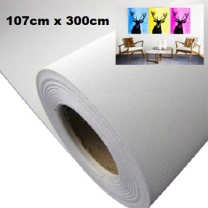 Maliarske plátno. Farba- biela. Zloženie- 100% polyester. Gramáž- 260g/m2 Rozmer: 107cm x 300cm.
