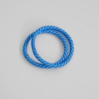 Prepletaná gumičkadovlasov s lurexom pre ženy a detí. Farba- modrá. Rozmer: 0.5cm x 6cm