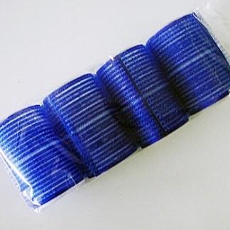 Samodržiace natáčky na vlasy, na suchý zips, 4ks. Vhodné pre použitie v salóne. Farba- modrá. Priemer: 4cm. Dĺžka: 6,5cm.