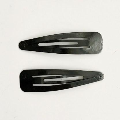 Krásne veľké sponky pukačky do vlasov kovové pre ženy a detíčky, 2ks. Farba- čierna. Rozmer: 7cm.