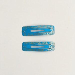 Krásne sponky pukačky do vlasov kovové s hviezdičkami pre ženy a detíčky, 2ks. Farba- modrá. Rozmer: 5cm.