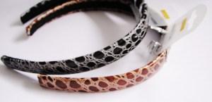 Luxusná koženková čelenka do vlasov s krokodílím vzorom pre krásne účesy. Farba- hnedá. Rozmer: 2cm.