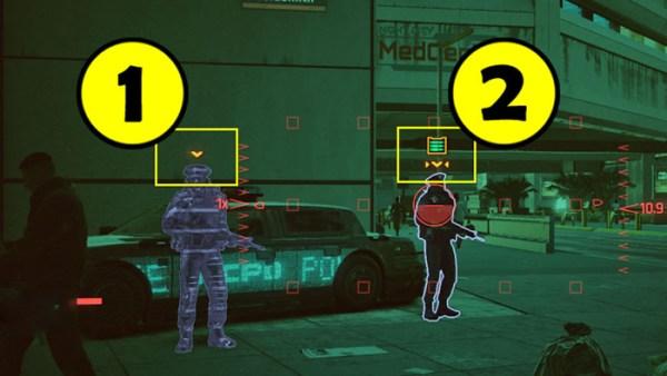 Сканер. Как помечать врагов и объекты в игре Cyberpunk 2077?
