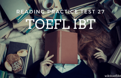 TOEFL IBT Reading Practice Test 27 from Cambridge Preparation for the TOEFL Test