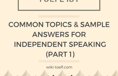 wiki toefl speaking