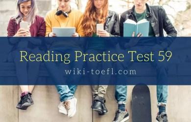 Reading Practice Test 59