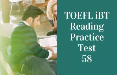 TOEFL iBT Listening Practice Test 58