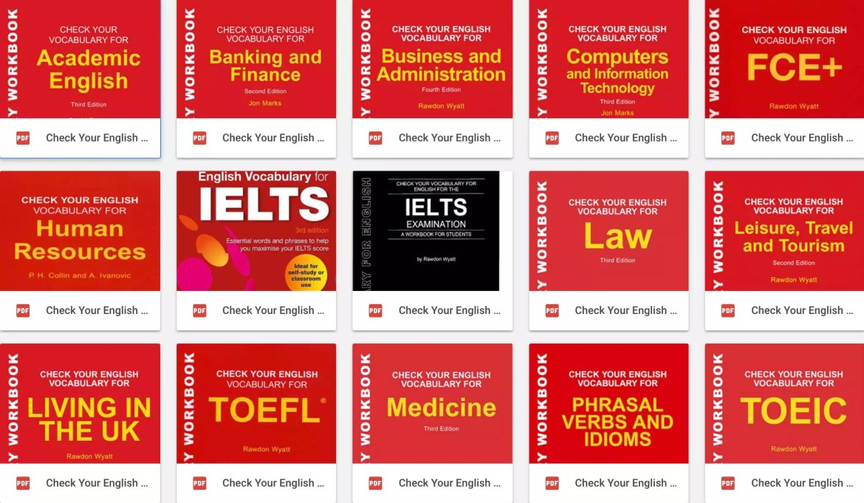 "Book Set""Check your English vocabulary"" by Rawdon Wyatt"