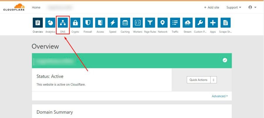 Cloudflare criar subdominio Passo 2