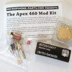 microphone parts apex 460 mod kit diy