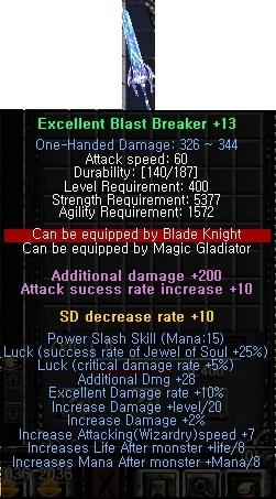 Blast Breaker Mu Online Guides And Tutorials