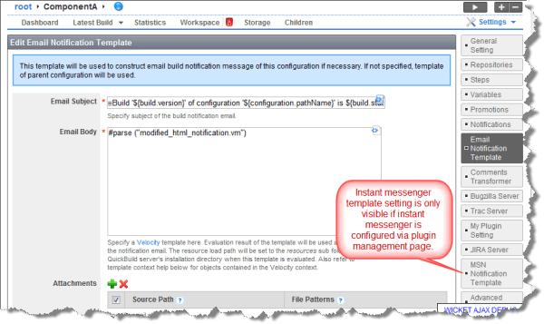 Customize Notification Templates - QuickBuild 3.1.x ...