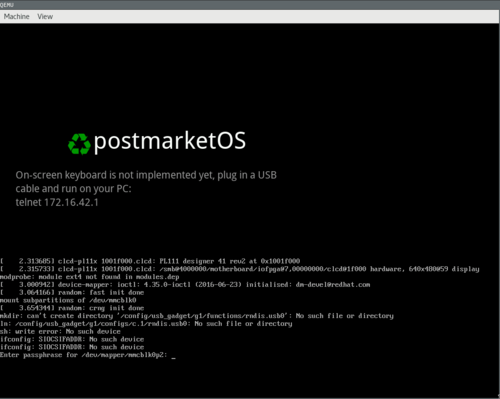 QEMU ARM (qemu-vexpress) - postmarketOS