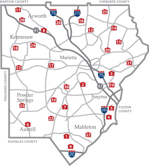 Map Cobb County School Map