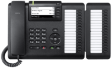 OpenScape Desk Phone CP400 front view with Keymodul.png