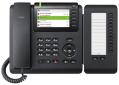OpenScape Desk Phone CP600 front view with Keymodul.png