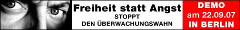 Demo gegen Sicherheits- und Überwachungswahn in Berlin am 22. September 2007...