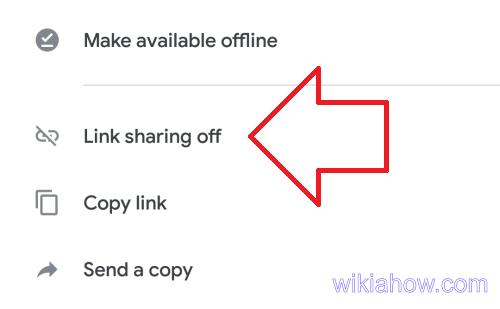 Google drive - link sharing off
