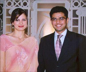 Sarah Pilot with her husband Sachin Pilot.