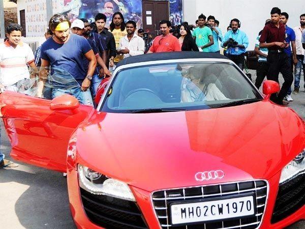 Saif Ali Khan in Audi R8 Spyder