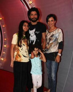 Farhan Akhtar With Ex-wife And Two Daughters Shakya and Akira