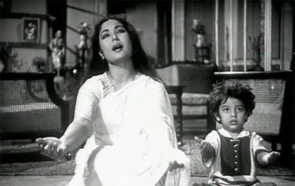 Meena Kumari with Honey Irani