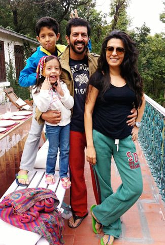 Mini Mathur with her family