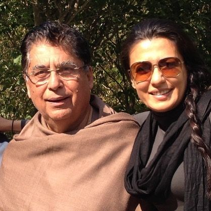 Mini Mathur with her father