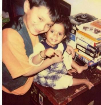 Namashi Chakraborty with His Sister