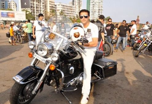 Jimmy Sheirgill with his bike