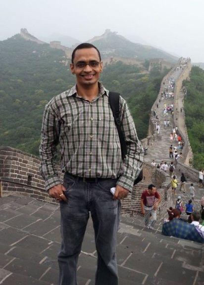 Major Sengar at the Great Wall of China