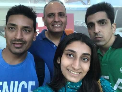 Sanjiv bhasin with his kids (left to right- Shivraj Bhasin, Siya Bhasin, Raghav Bhasin )