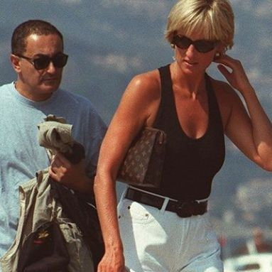 Dodi Fayed with Princess Diana
