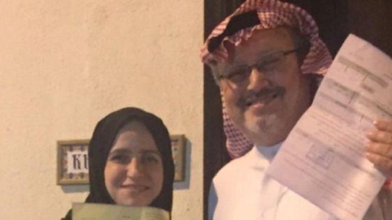 Jamal Khashoggi with his ex-wife Dr. Alaa Nassif