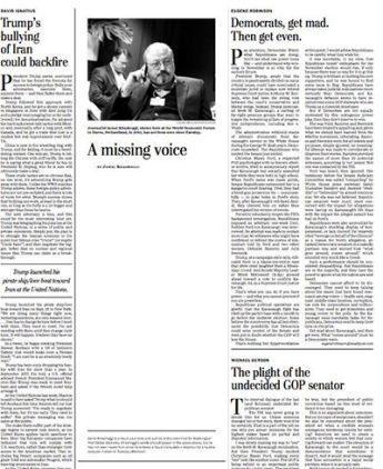 Jamal Khashoggi's column in The Washington Post