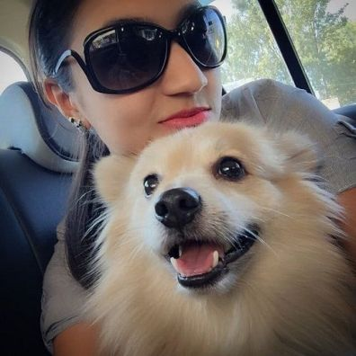 Vaishnavi Gowda and her pet dog