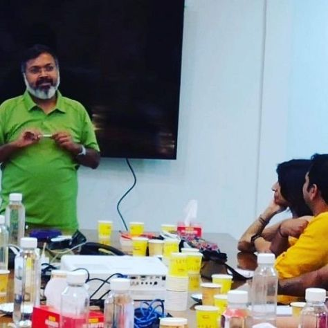 Devdutt Pattanaik in a conference
