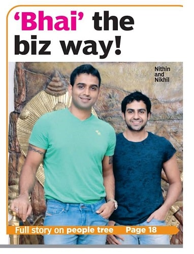 Nikhil Kamath and his brother's interview for a magazine