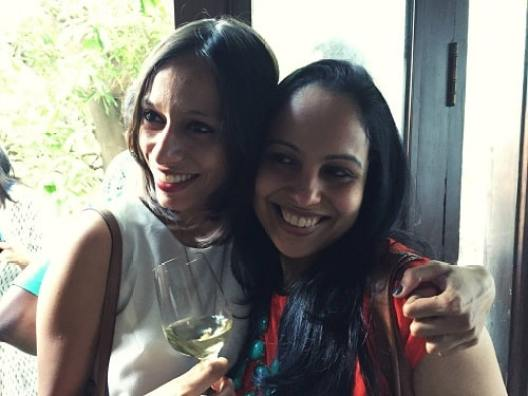 Anya Rangaswami with her friend